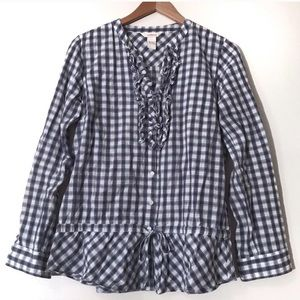 Sundance Blue & White Gingham Blouse